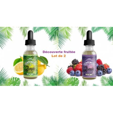 Greeneo Jungle Lemon 200mg + Jungle Berry 200mg Decouverte Fruitée Lot de 2